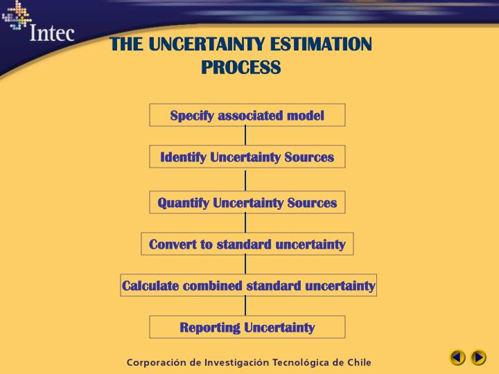 THE UNCERTAINTY ESTIMATION PROCESS