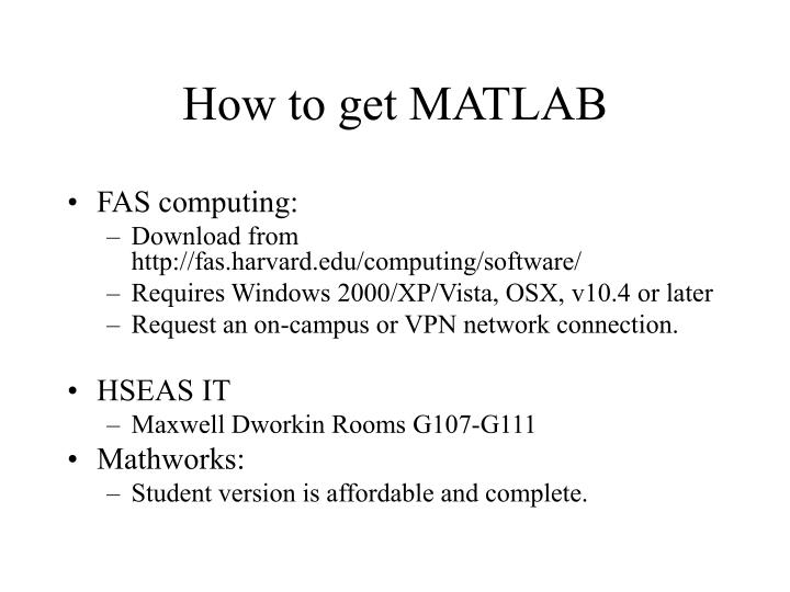 How to get MATLAB