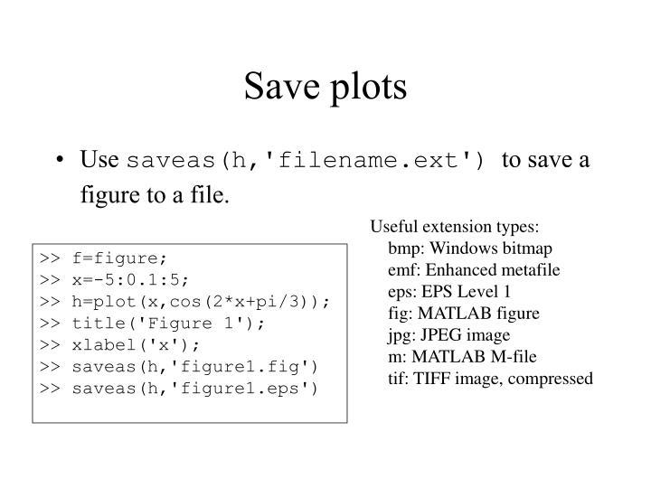 Save plots