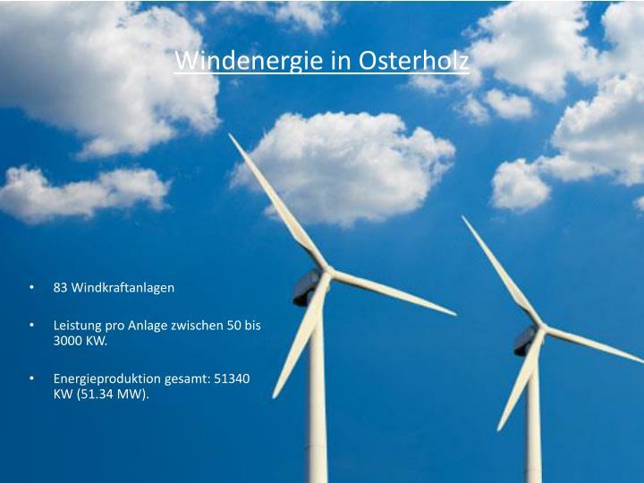 Windenergie in