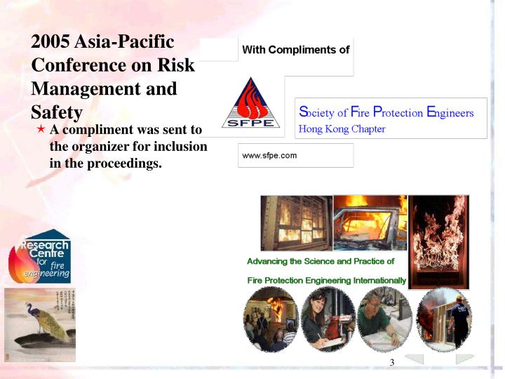 2005 Asia-Pacific Conference on Risk Management and Safety