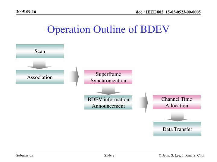 Operation Outline of BDEV