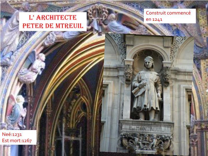 Construit commencé en 1241