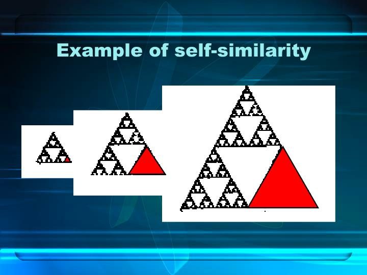 Example of self-similarity