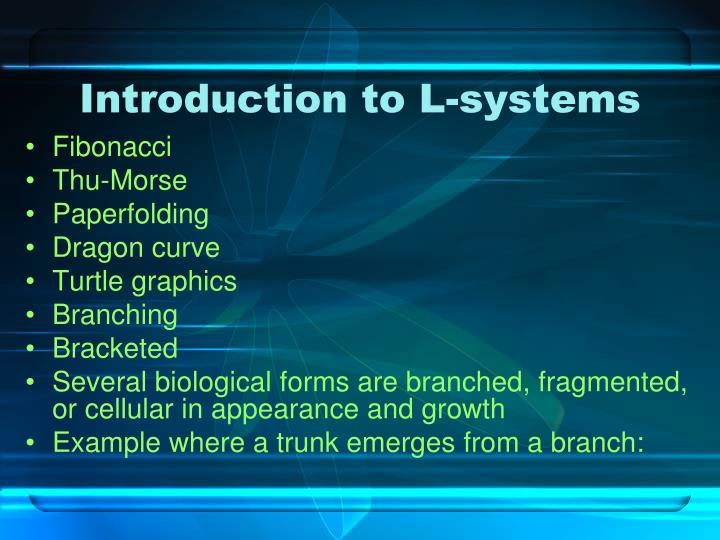 Introduction to L-systems