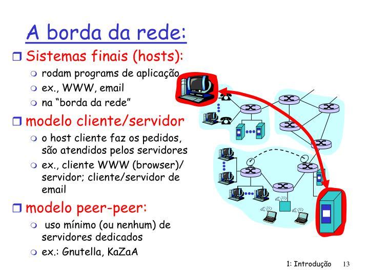 Sistemas finais (hosts):