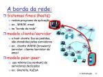 a borda da rede