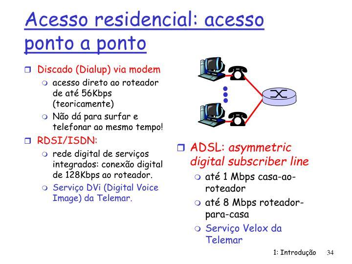 Discado (Dialup) via modem