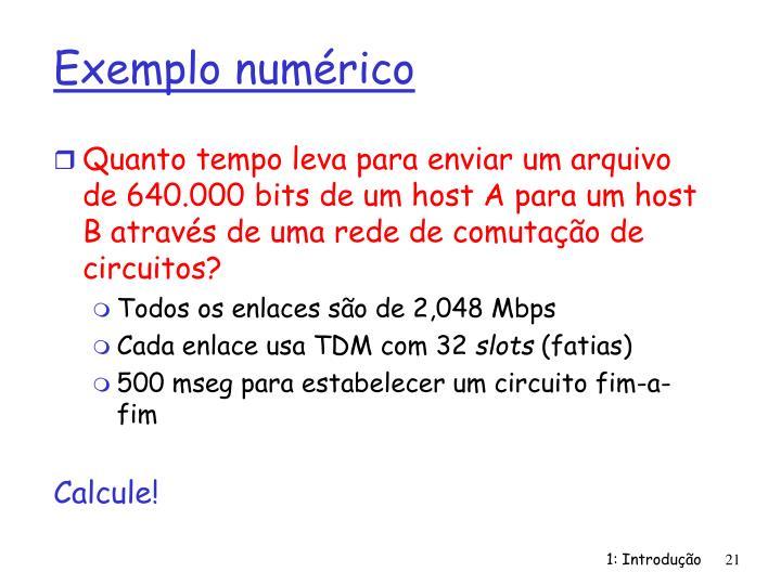 Exemplo numérico