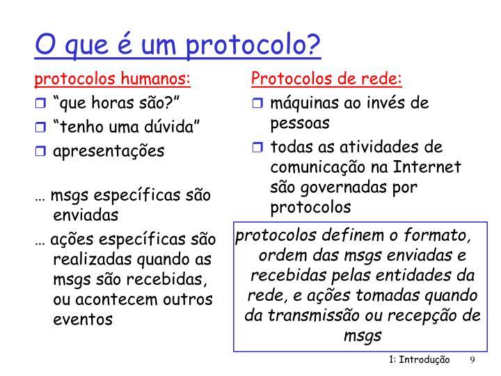 protocolos humanos: