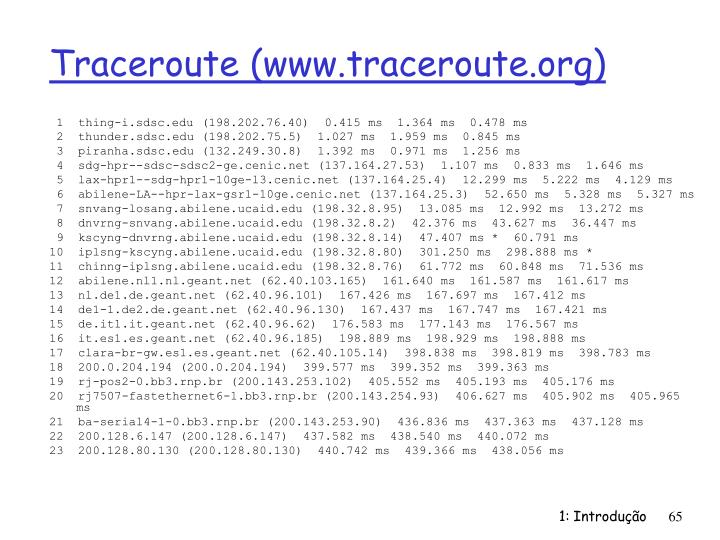 Traceroute (www.traceroute.org)