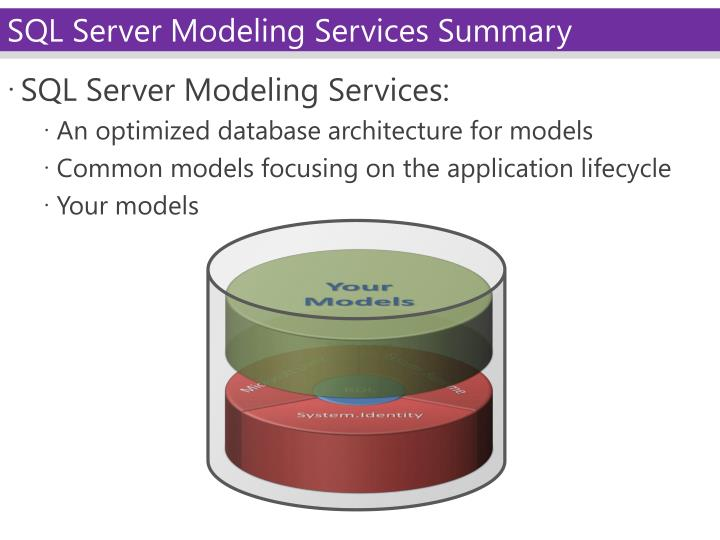 SQL Server Modeling Services: