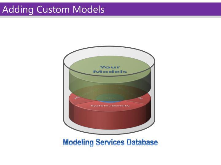 Adding Custom Models