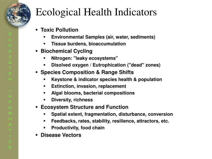 Ecological Health Indicators
