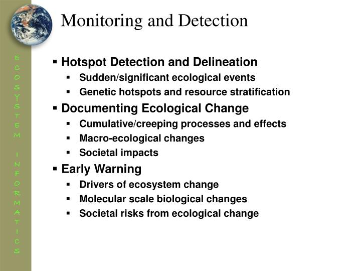 Monitoring and Detection