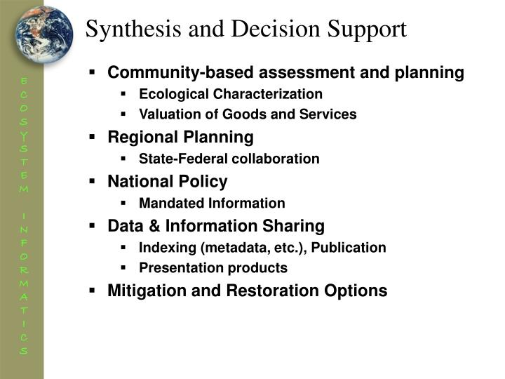 Synthesis and Decision Support
