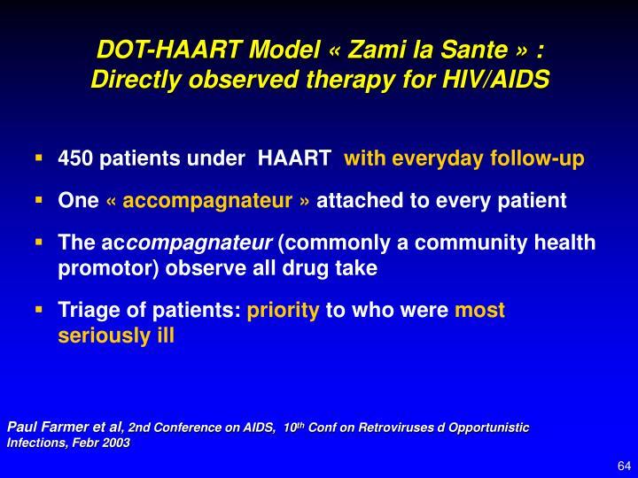 DOT-HAART Model « Zami la Sante » :