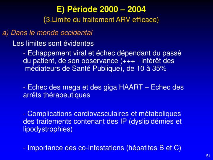 E) Période 2000 – 2004