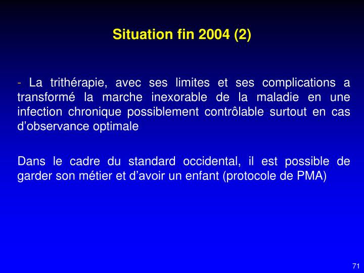 Situation fin 2004 (2)