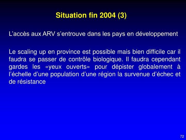 Situation fin 2004 (3)