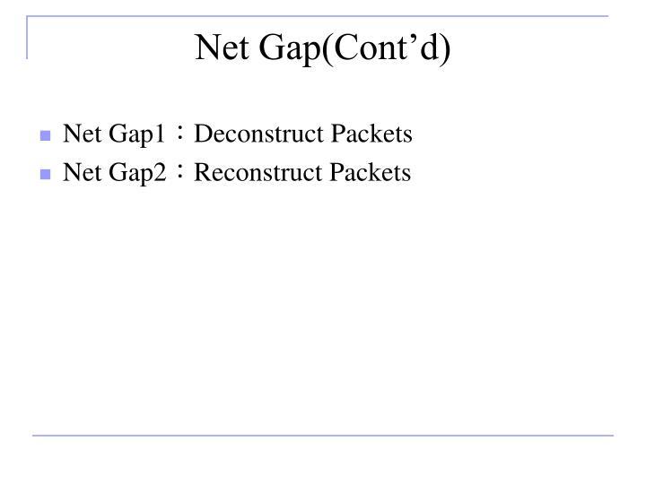 Net Gap(Cont'd)