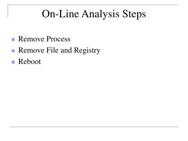 On-Line Analysis Steps
