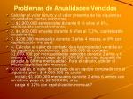 problemas de anualidades vencidas