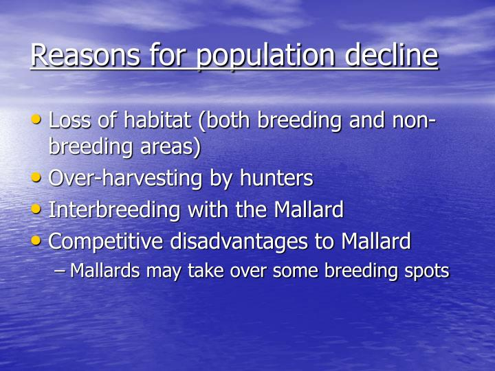 Reasons for population decline
