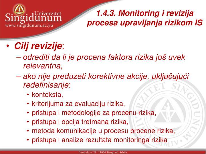 1.4.3. Monitoring i revizija