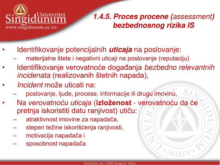 1.4.5. Proces procene (