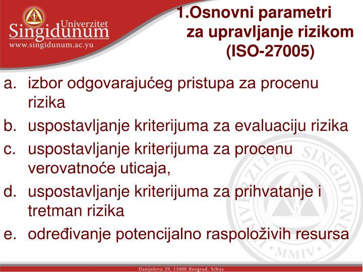 1.Osnovni parametri