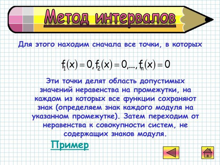 Метод интервалов