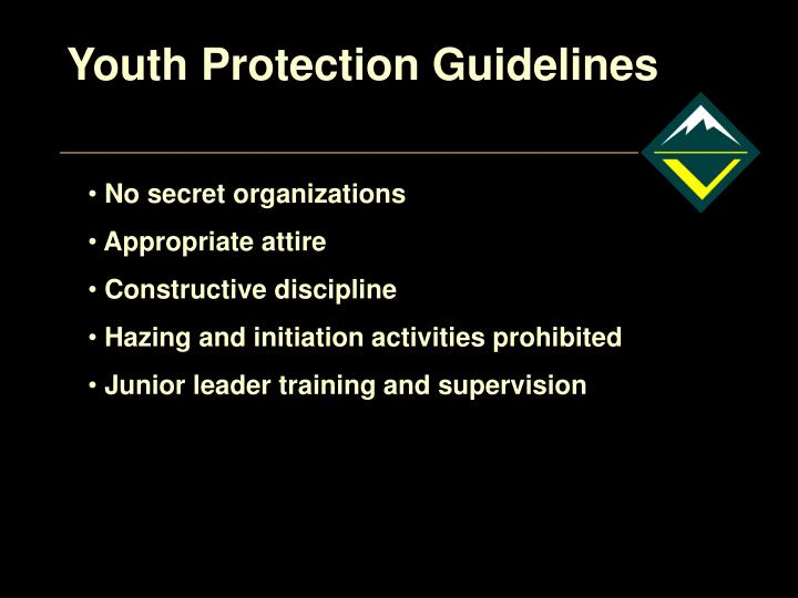 Youth Protection Guidelines