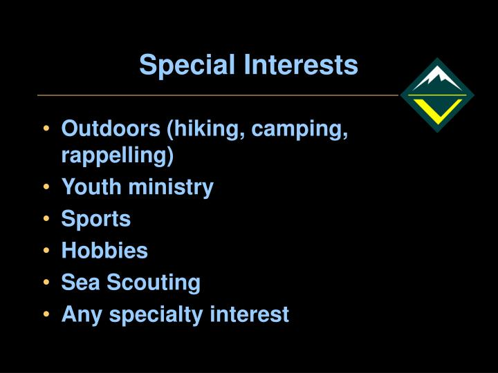 Special Interests