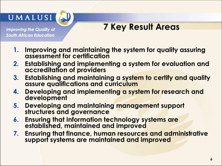 7 Key Result Areas