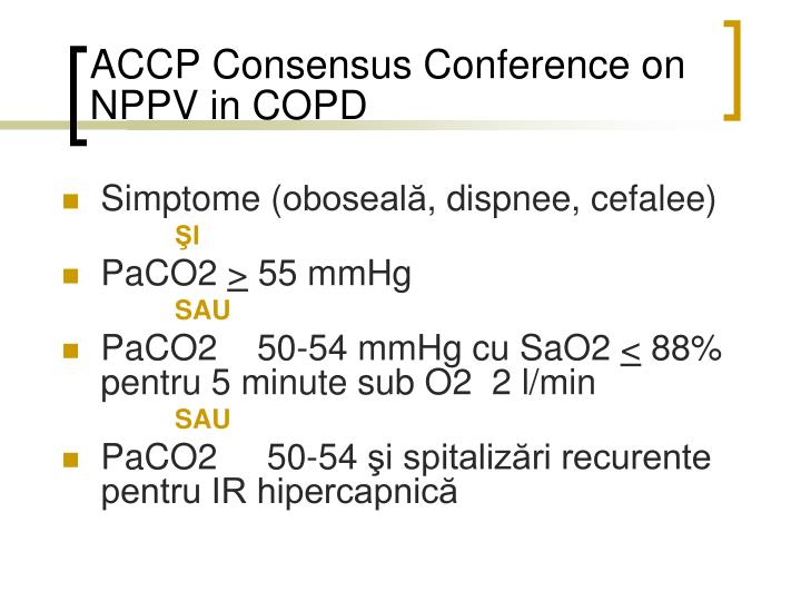 ACCP Consensus Conference on NPPV in COPD
