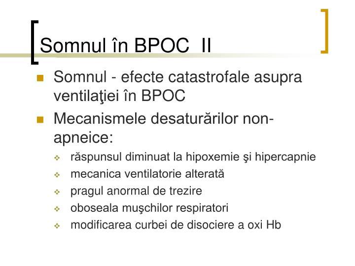 Somnul în BPOC  II
