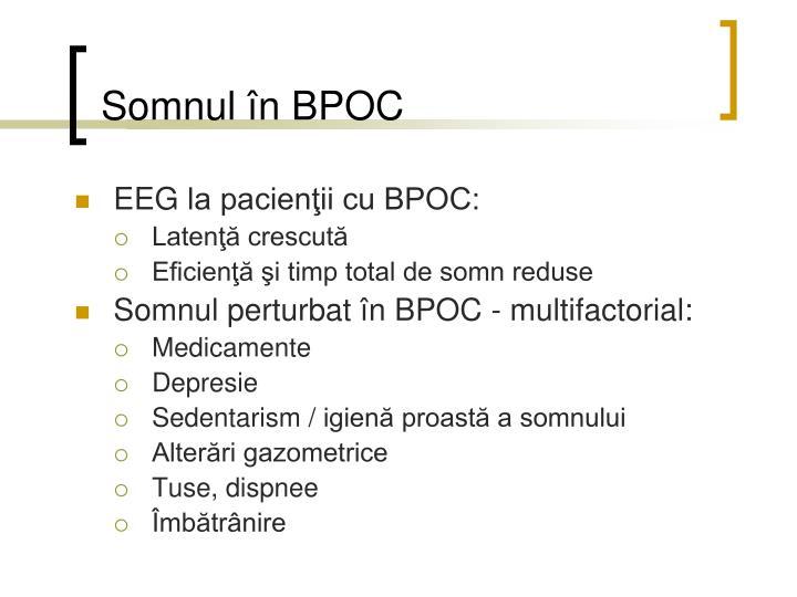 Somnul în BPOC