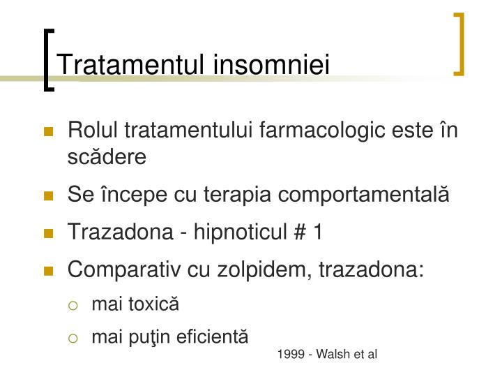 Tratamentul insomniei