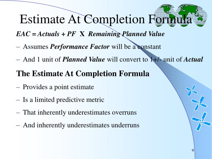 Estimate At Completion Formula