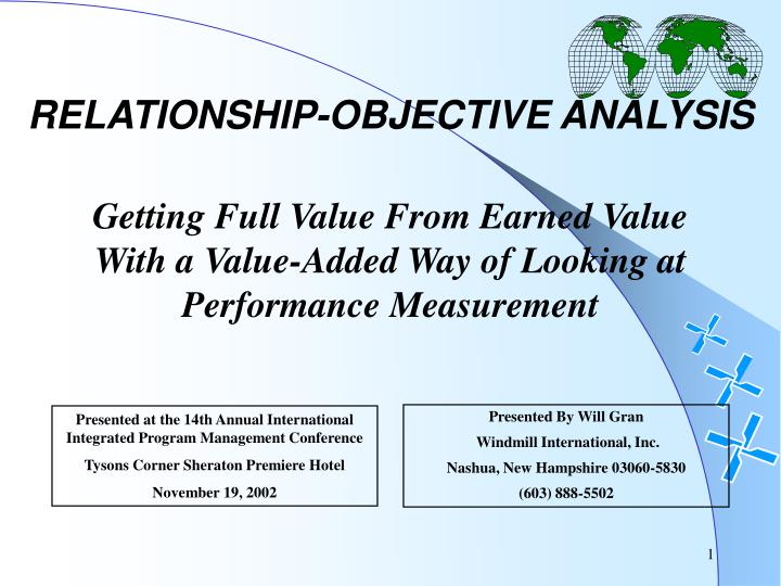 Relationship objective analysis
