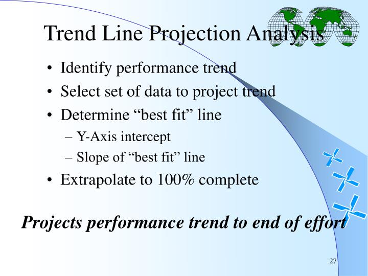Trend Line Projection Analysis