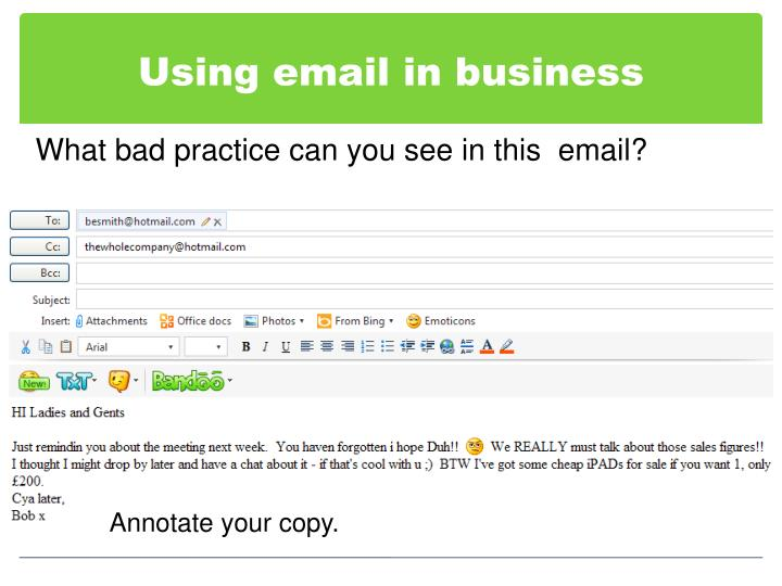 Using email in business