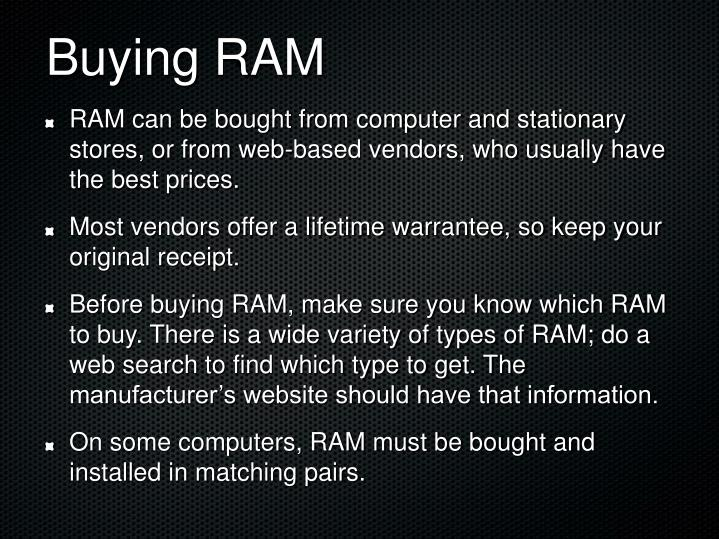 Buying RAM