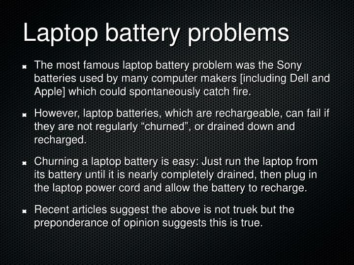 Laptop battery problems