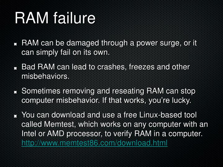 RAM failure