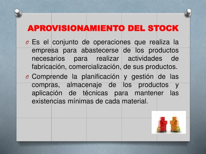 Aprovisionamiento del stock