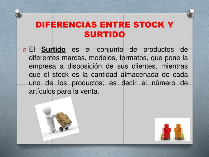 Diferencias entre stock y surtido