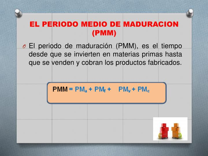 EL PERIODO MEDIO DE MADURACION (PMM)