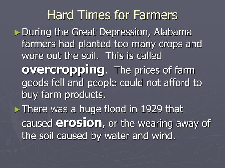 Hard Times for Farmers